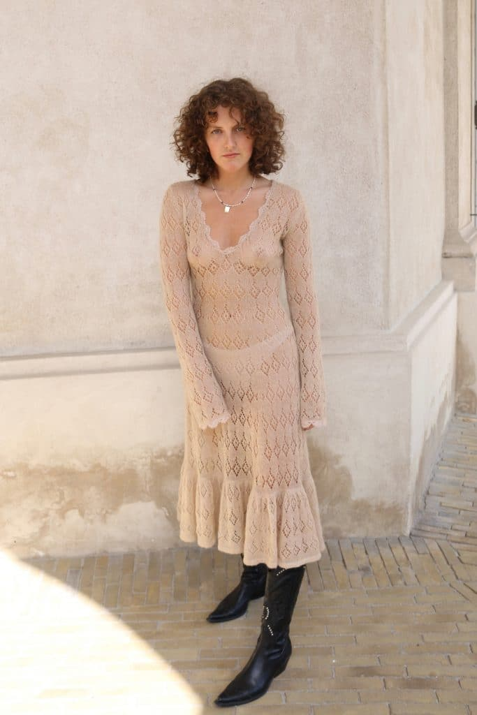Knitted see through dress