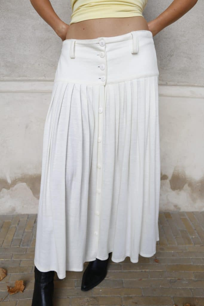 Pearly maxi skirt