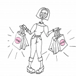 Girl with shopping bags