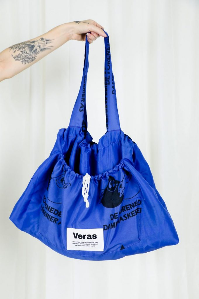 V-Cycled Totebag Dark Blue