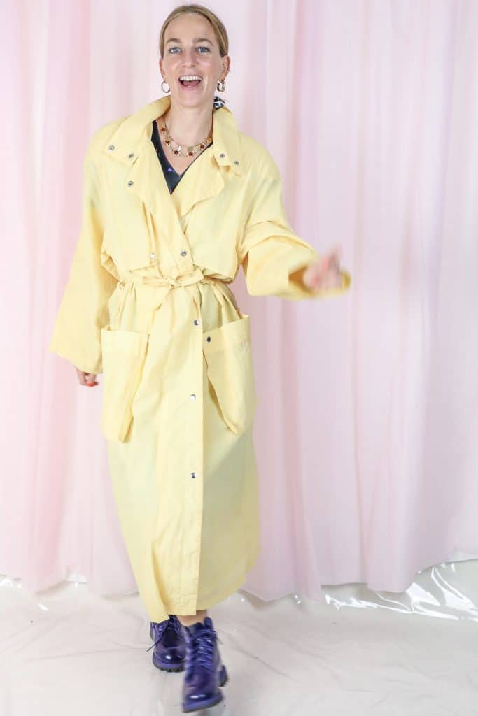 Yellow vintage coat