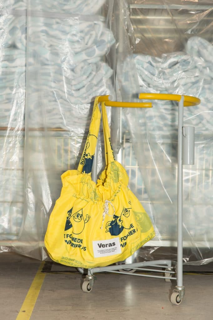V-Cycled Totebag Yellow/Black