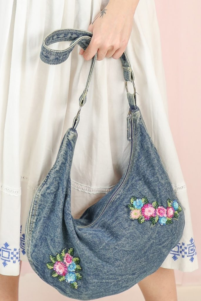 Vintage denim bag