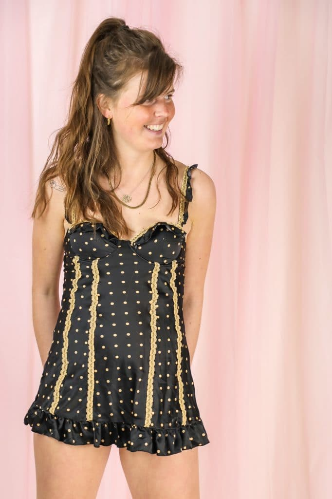 Dotted bustier