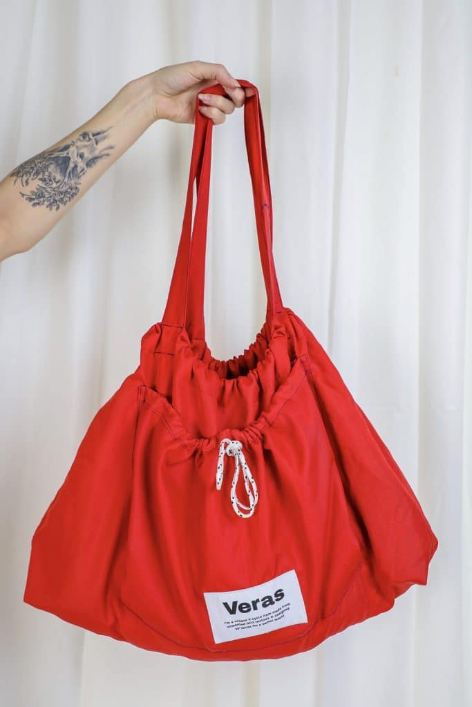 V-Cycled Totebag Red