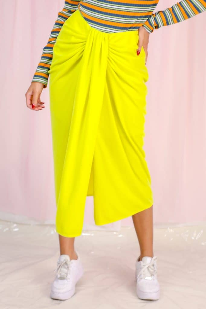 Neon yellow skirt