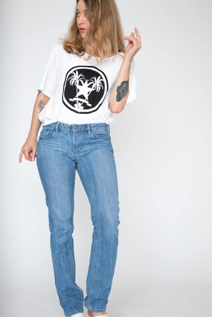 Lavtaljede straight fit jeans